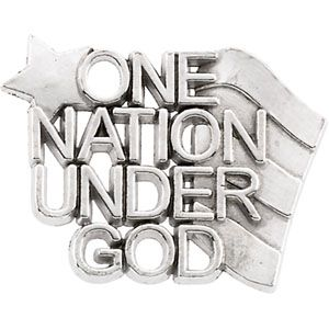 One Nation Under God Lapel Pin 2